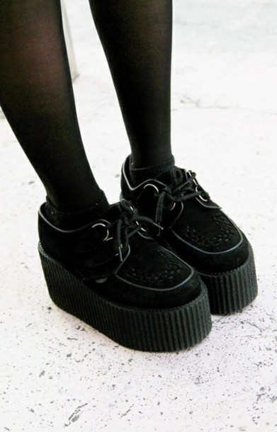 shoes creepers grunge creepers high heels black creepers