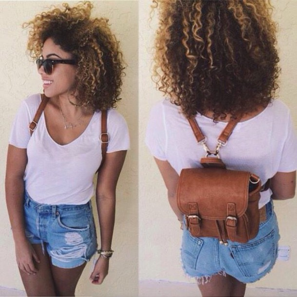 bag vintage backpack shorts