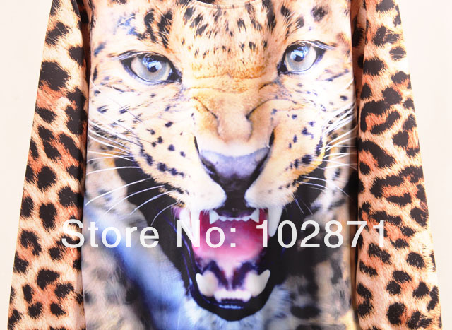 new 2013 Winter Plus size Winter Set Animal Leopard Tiger 3D Print Sport Hoodie Suit Sportswear Sweater Sweatshirt-in Hoodies & Sweatshirts from Apparel & Accessories on Aliexpress.com