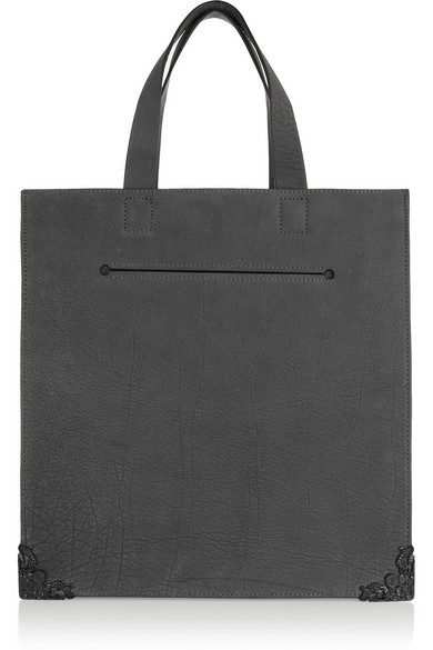 McQ Alexander McQueen Washed-leather tote NET-A-PORTER.COM