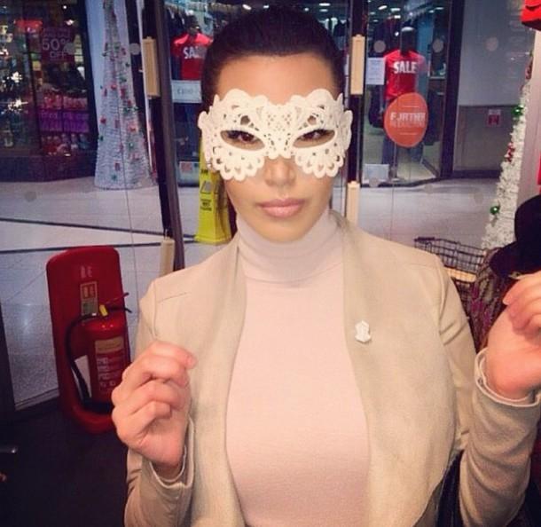 turtleneck kardashians mask sunglasses