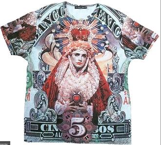 oversized print jesus religion blue t-shirt red t-shirt grey t-shirt black t-shirt t-shirt