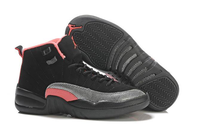 Black/Siren Red/Pink-Retro Air Jordan 12 (gs) Nike Ladies Sport Shoes -  $102.58 -  Jordan Women Shoes Retro 12