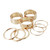 Gold Metallic Multiple Sized Stackable Ring Set | Simple Fashion Designs | Trendy Contemporary Clothing | J.SIMPLE