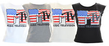 MTV Womens Logo Tank Vest TOP Size 10 16 | eBay