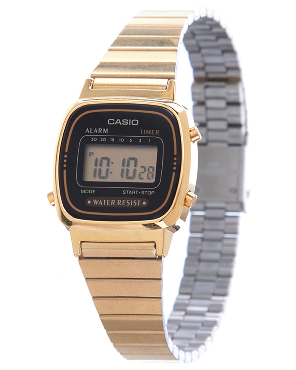 Digital WR Time Stop Watch Gold Steel Band by Casio Online | THE ICONIC | Australia