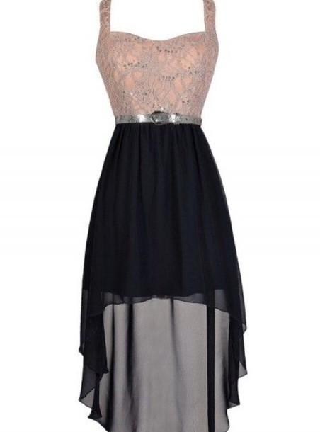 dress high low dress pink dress black dress prom dress formal dress lace dress black chiffon
