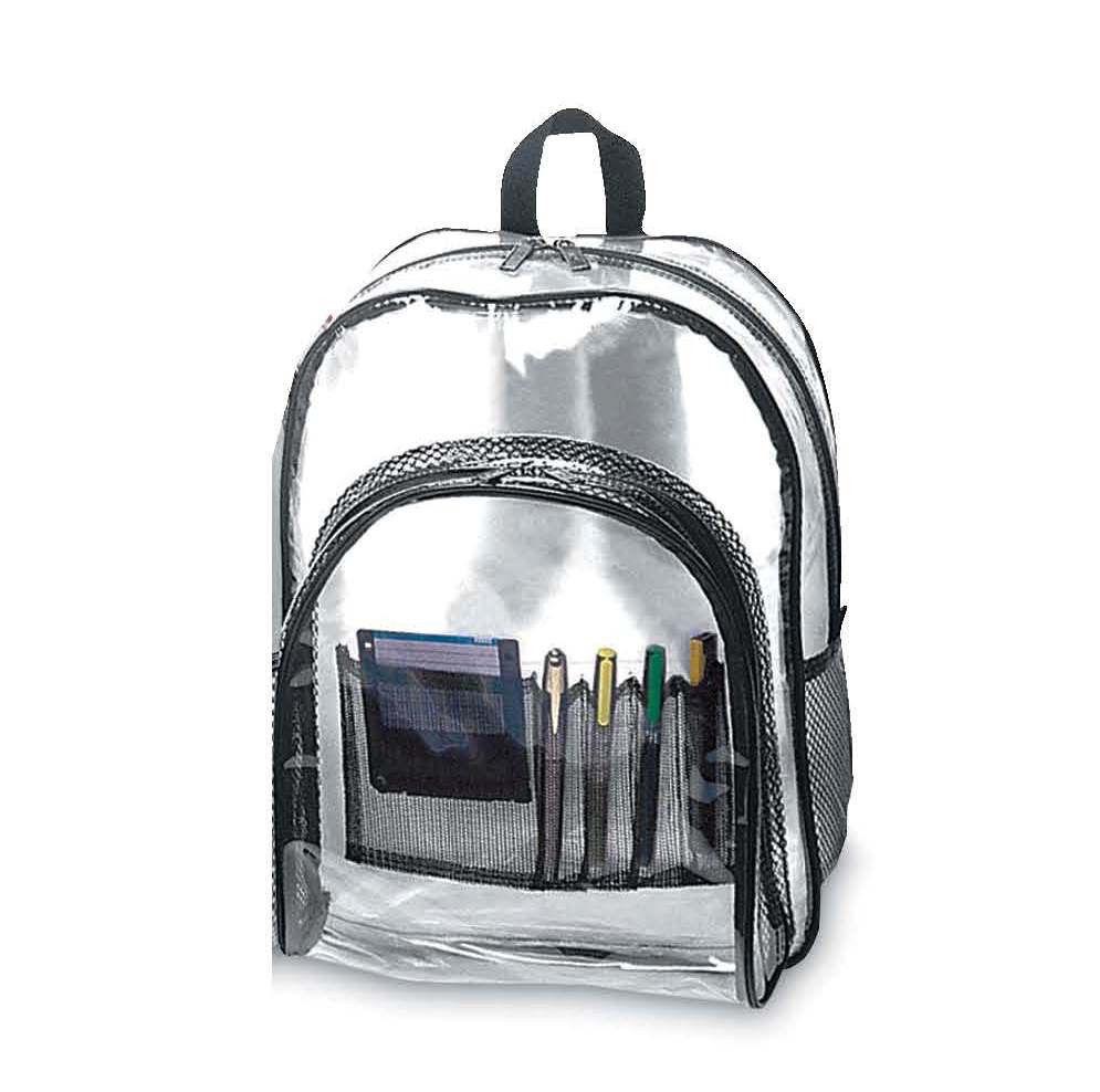 Security Transparent Backpack with Black Trim   eBay