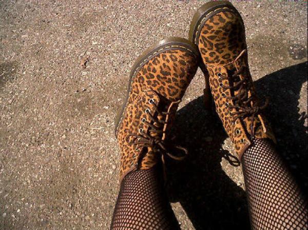 shoes combat boots boots leopard print