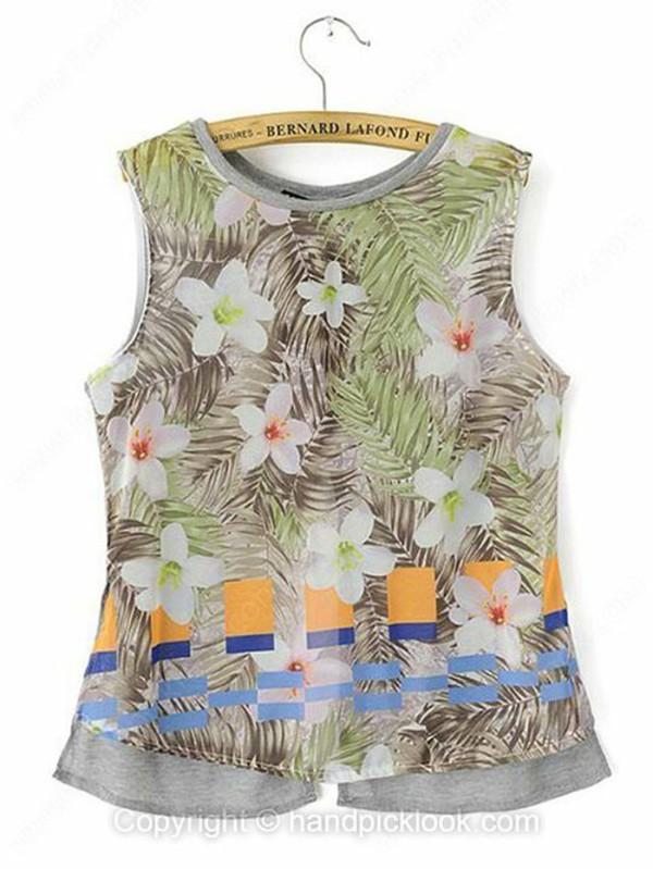 top print top floral print top printed shirt floral shirt tank top