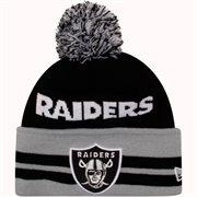 New Era Oakland Raiders Legacy Wide Pom Knit Hat - Black - NFLShop.com