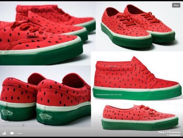 shoes vans watermelon