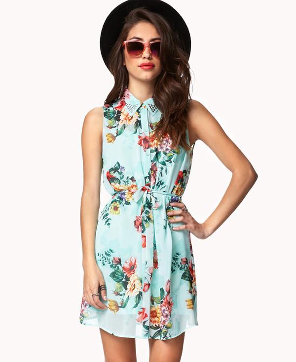 dress floral dress cute teenagers floral forever 21 cute dress trendy love beautiful spring summer dress spring dress