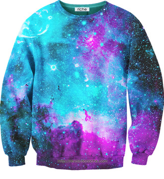 sweater hoodie swater galaxysweater galaxy print cute hipster galaxyhoodie shiny colorful dye nebula