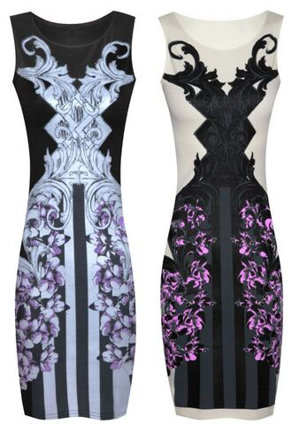 dress fitted fashion bodycon dress floral print abstract essex shop new pattern sexy mini boutique