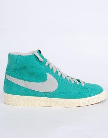 Nike Blazer Hi Vintage Suede Trainers - Teal Green/Grey