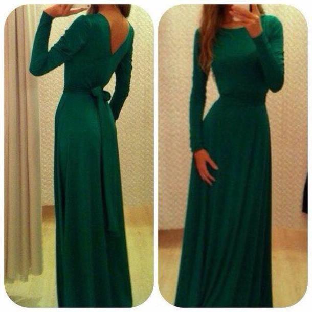 dress green maxi dress