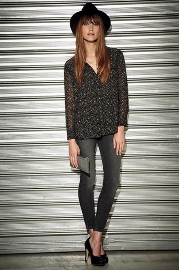 blouse berenice lookbook fashion jeans shoes hat