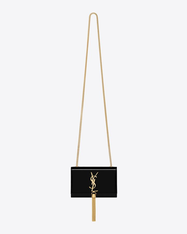 Saint Laurent Small Monogramme Bag In Black Patent Leather | ysl.com
