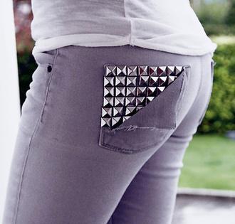 jeans clothes rivets