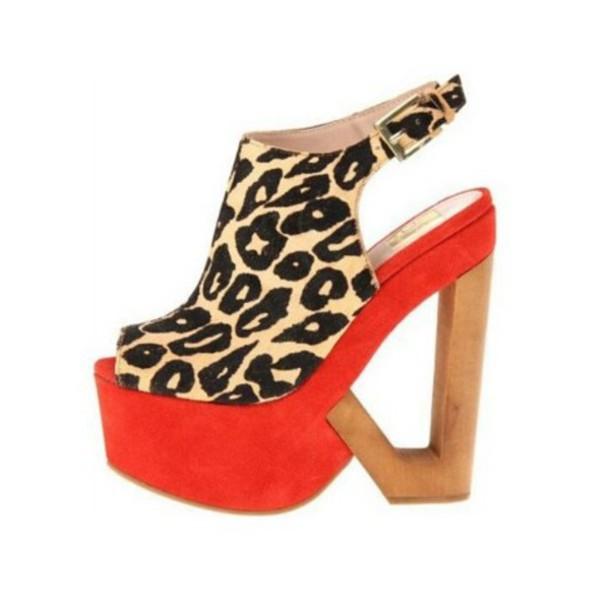 shoes heels platform shoes leopard print