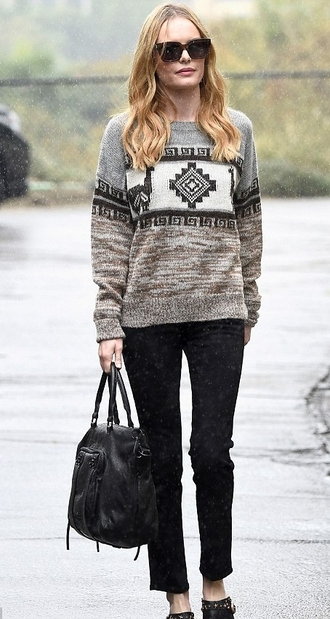 sweater kate bosworth streetstyle fall outfits