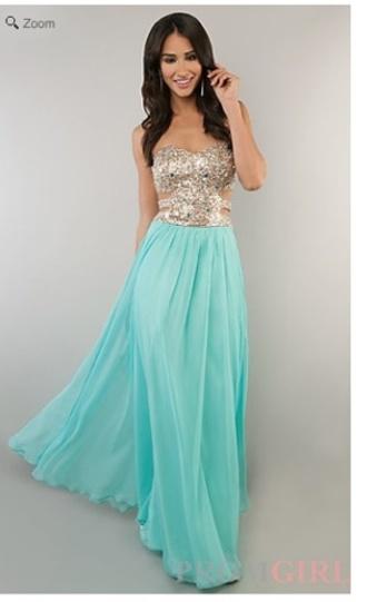 dress turquoise white long prom dress prom dress blue prom dress homecoming long dress sequins one shoulder dress aqua baby blue