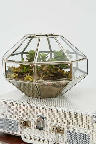 home accessory urban outfiters terrarium plants glass geometric metallic home decor