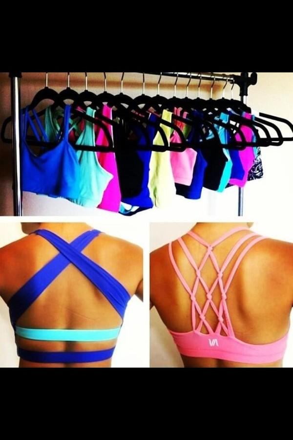 tank top blue sports bra nike sportswear workout underwear