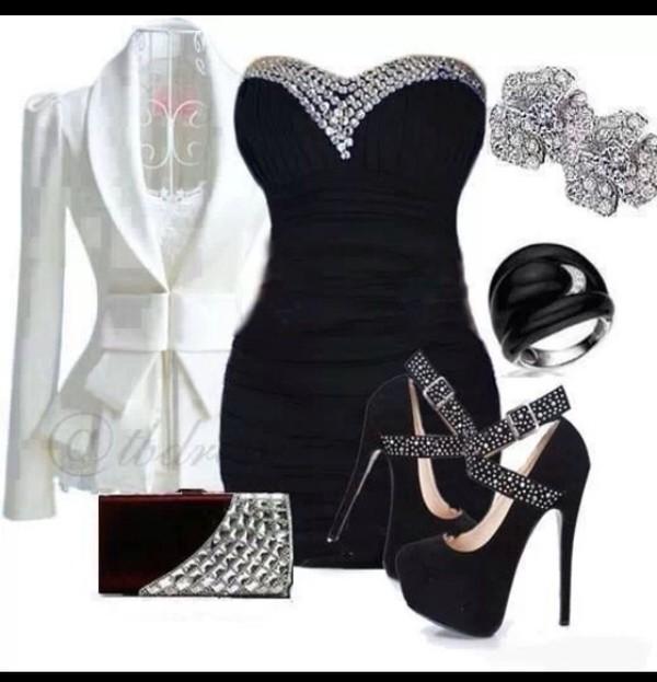 dress black mini dress glamour i want! short