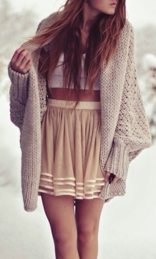 skirt sweater blouse jacket beautiful fashion cardigan wool beige cardigan winter outfits fall outfits