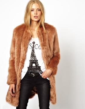 ASOS | ASOS Longline Lux Faux Fur Coat at ASOS