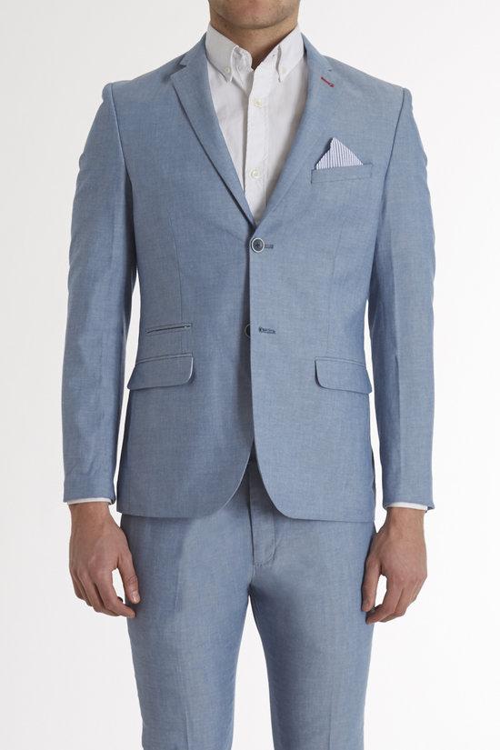 Chambray Skinny Jacket w Seersucker Trims - Paisley & Gray - Coats   Jackets : JackThreads