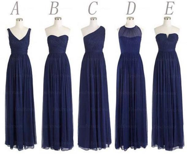 dress navy bridesmaid long bridesmaid dress cheap bridesmaid dress mismatched bridesmaid dress chiffon bridesmaid dress