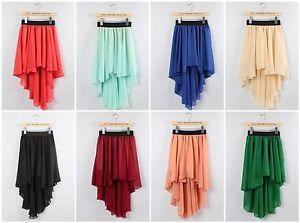 Celebrity Style Woman Ladies Front Short Back DIP Long Maxi Sheer Skirt Dress | eBay