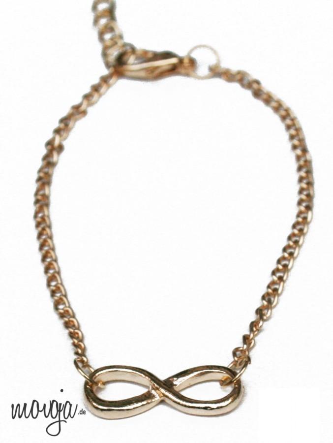Infinity Metallarmband Unendlichkeit Metal Armband Gold Silber Schwarz Accessoires / Mode Schmuck