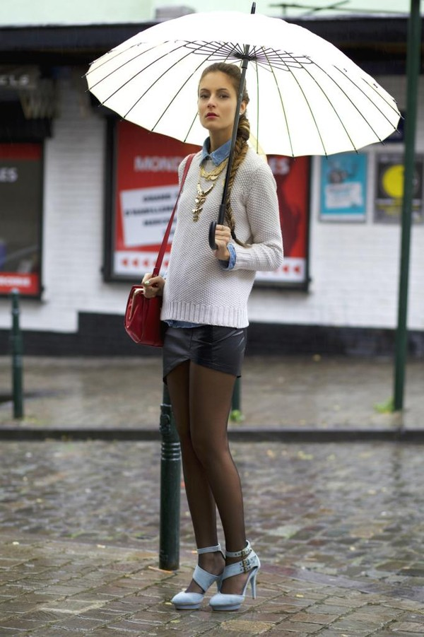from brussels with love skirt shoes sweater shirt jewels bag