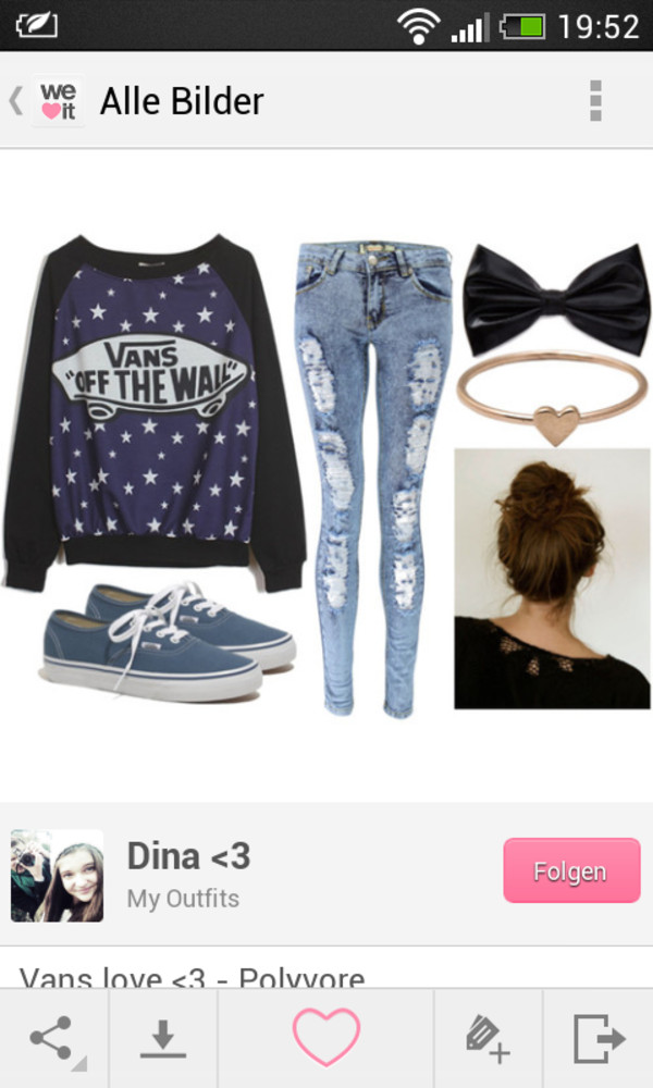 jeans vans pullover sweater jewels