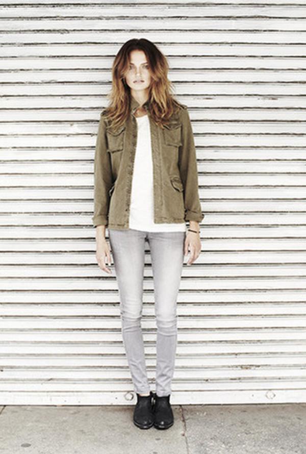 jacket anine bing lookbook fashion shirt jeans shoes