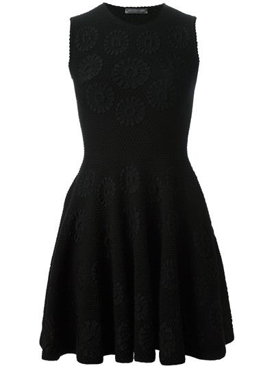 Alexander Mcqueen Embroidered Flower Dress - Luisa Boutique - Farfetch.com