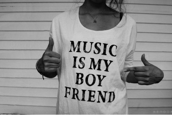 shirt music is my boyfriend