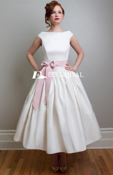 Dress: wedding dress, wedding dress 2015, satin wedding ...