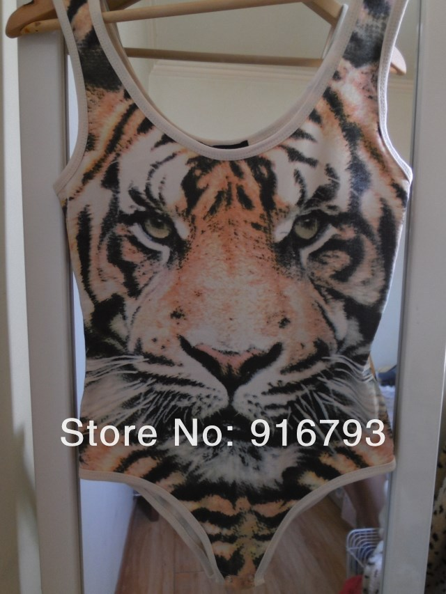 Fashion! Siamese tight stretch tiger pattern design top Tigers vest body suits swim suits jumpsuit Free / Drop Shipping-in Jumpsuits & Rompers from Apparel & Accessories on Aliexpress.com