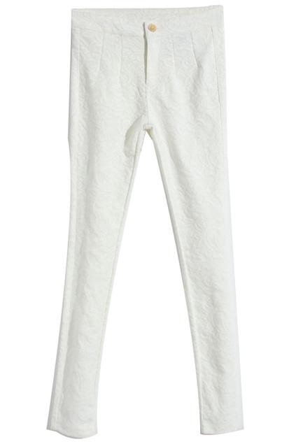 ROMWE   Lace Crochet White Pants, The Latest Street Fashion