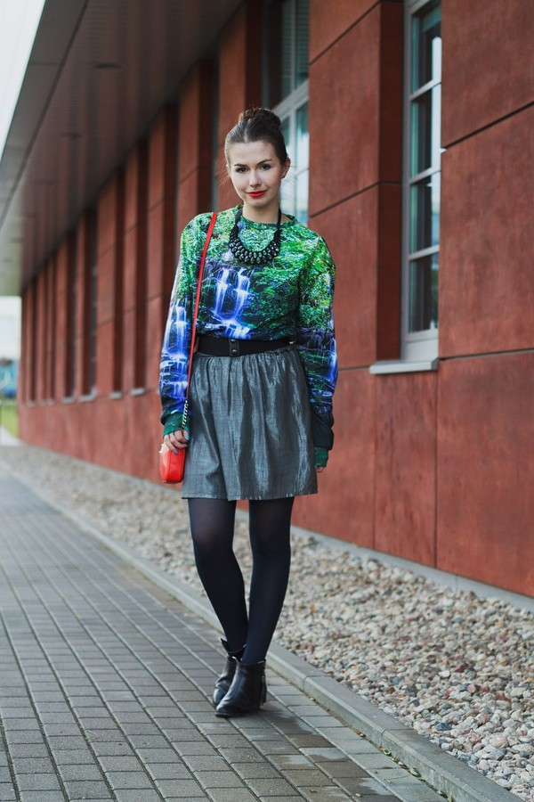 kapuczina blouse bag belt jewels shoes skirt