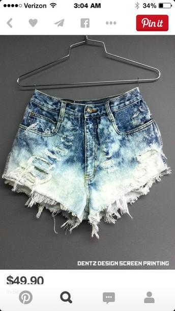 shorts ripped shorts High waisted shorts