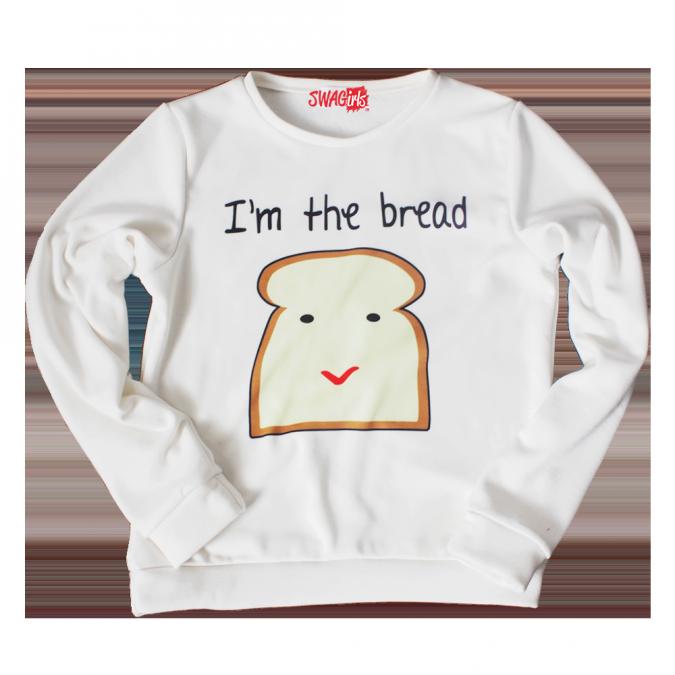 I'M THE BREAD fleece sweater - swagirls