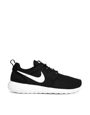Nike | Nike Roshe Run Black Trainers at ASOS