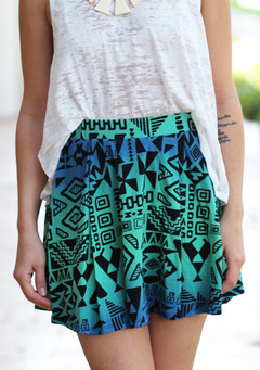 TRIBAL SHORTS AND BLACK BUSTIER on The Hunt