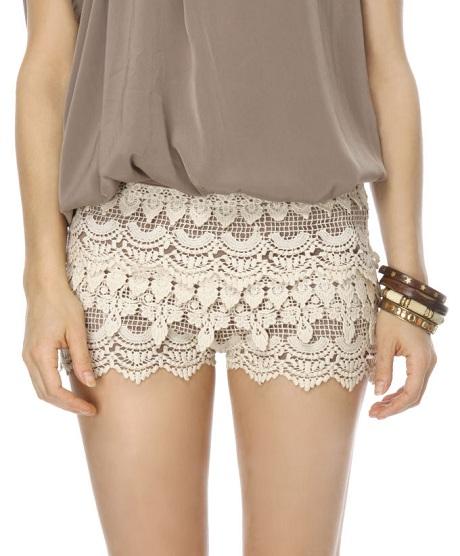 Love Seat Ivory Lace Shorts